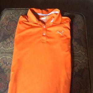 Puma Cobra orange kids 13-14y golf shirt
